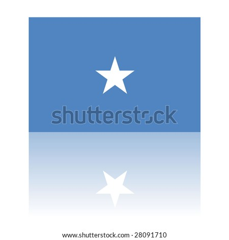official flag of somalia with shadow