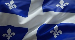 Official flag of the province of Quebec. Canada.