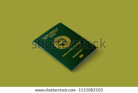 Official passport of Nigeria,The Republic of Nigeria passport, Green Nigerian Passport,Ecowas passport