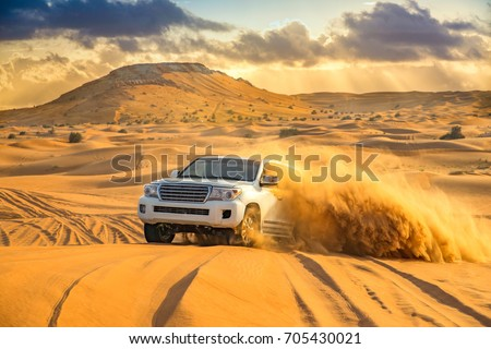 Offroad desert safari in the  Dubai desert