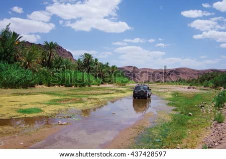 Offroad in Moroccan desert Zdjęcia stock ©