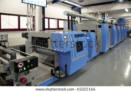 Offset press printing for labels
