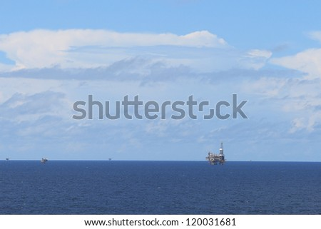 Offshore drilling rig and platforms in the offshore oil gas field