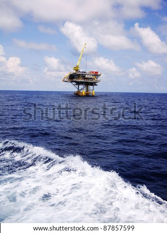Offshore Oil Gas Production Platform in Remote Area (Ocean)