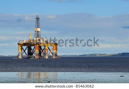 Offshore oil platform, North Scotland