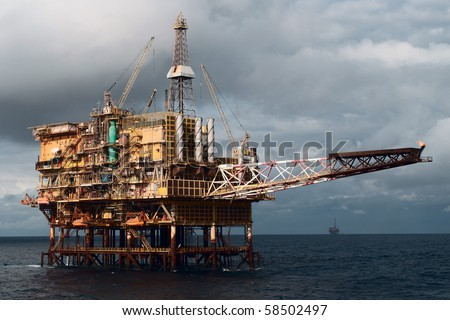 Offshore oil rig.  Coast of Brazil