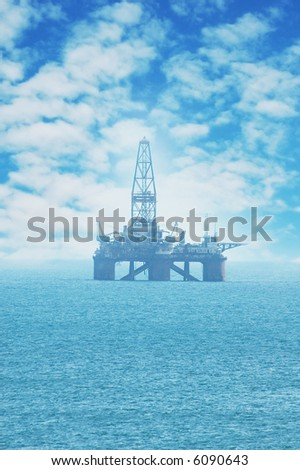 Offshore Oil Rig in the Caspian Sea - more similar photos in my portfolio