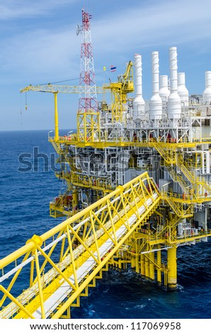 Offshore platform at the south of Thailand