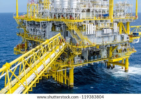 Offshore platform in the south of Thailand