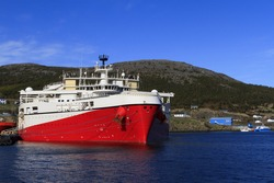 Offshore seismic vessel in the port