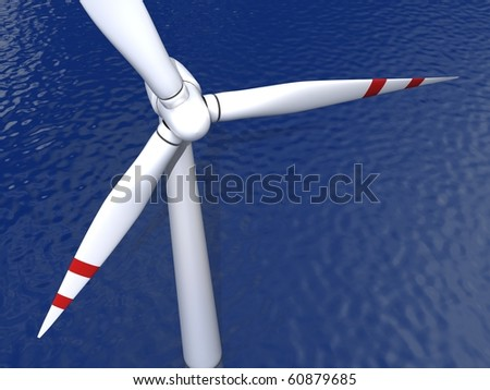 Offshore wind energy wind power generators wind propeller Sustainable Renewable Energy