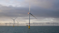 Offshore Wind Farm in North Sea Germany