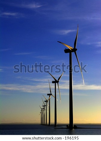Offshore wind farm - manipulated i colours,