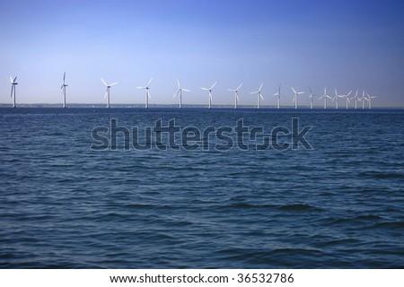 Offshore wind farm near Copenhagen, Denmark