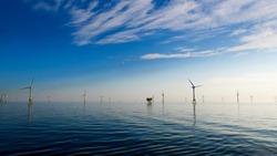 Offshore wind Farm North Sea Perfect weather
