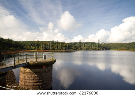 Ogden Water Reservoir Halifax West Yorkshire Uk Stock Photo ...