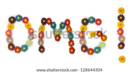 Oh My God! title made of little floral letters