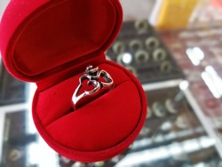 ohm ring made of real silver 92.5% oxidation