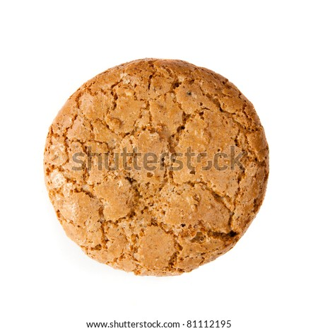 Ohomemade fresh oats cookies isolated on  light