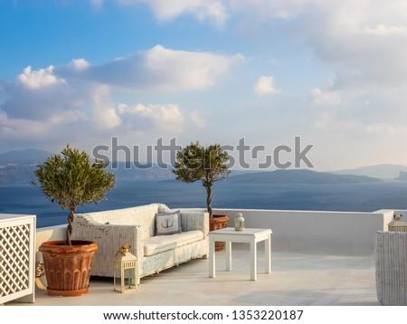 Oia in Santorini Greece Stock fotó ©