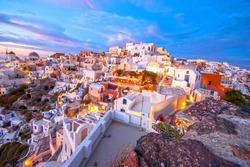 Oia Santorini Greece famous with beautiful romantic sunsets