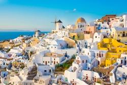 Oia town on Santorini, Greece