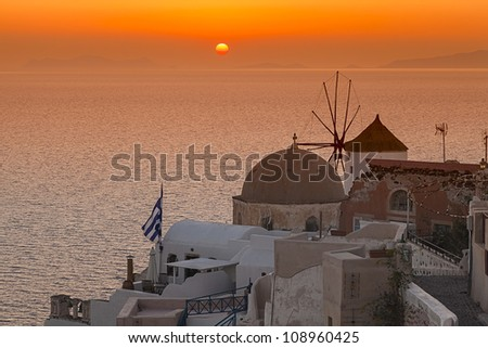 Oia village in Santorini island,Greece #108960425