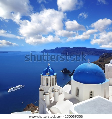 Oia village in Santorini island Greece