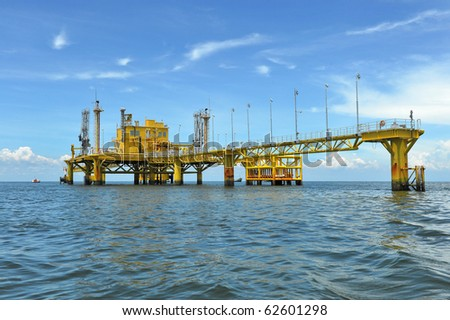 Oil and gas drilling platforms