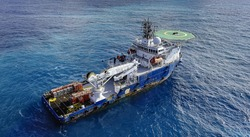 Oil and Gas field survey boat