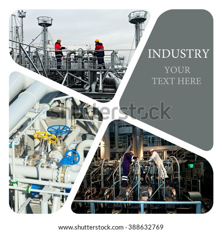 Oil And Gas Industry. Industrial. Industrial concept. Industrial photo collage