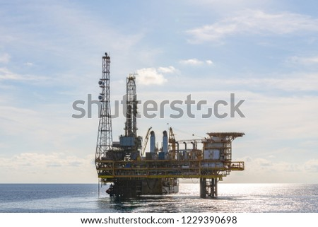 Oil and Gas Platform #1229390698