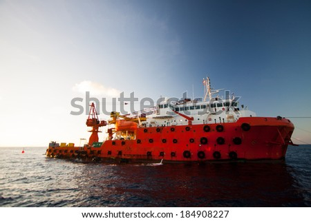 Oil and gas platform in the gulf or the sea The world energy Offshore oil and rig construction