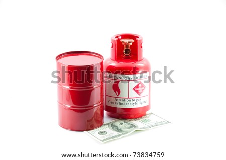Oil and gas price - stock photo