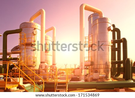 oil and gas processing plant #171534869