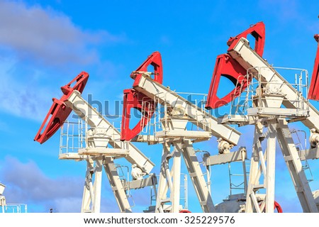 oil and gas production in nature #325229576