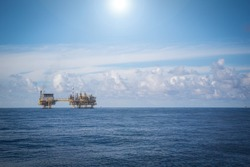 Oil and Gas production process flatform on offshore