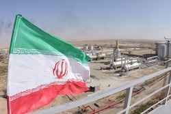 Oil and Gas Refineries / Flag of Iran