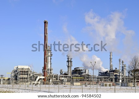 oil and gas refinery in the port of rotterdam netherlands