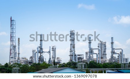 Oil and gas refinery industrial plant, Power industrial plant. #1369097078