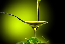oil and salad