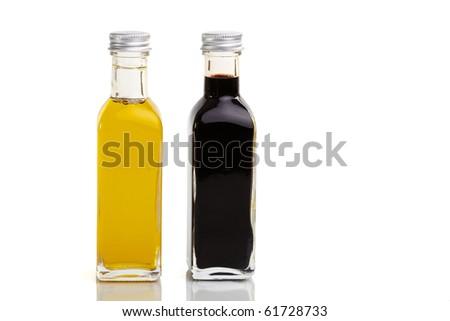 Oil and vinegar bottle duo in nice bottles