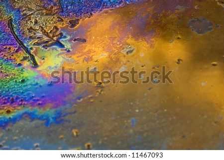 Oil and water rainbow