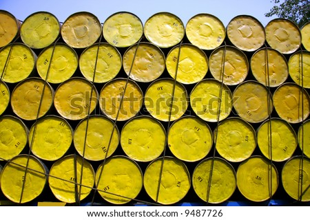 oil barrels stacked up for cargo