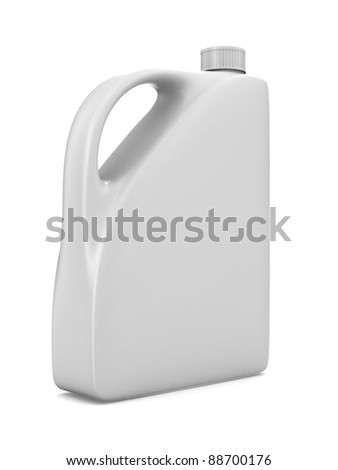 oil bottle on white background. Isolated 3D image