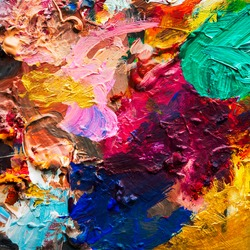 Oil color mix for art background and texture