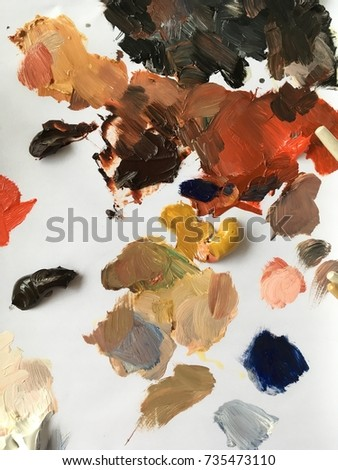 Oil color palette of neutral and earthy tones