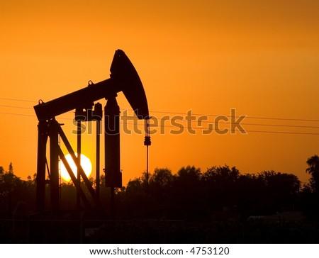 Oil Derrick at sunset.