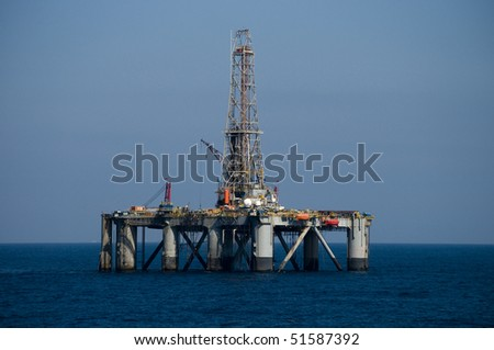 oil drilling rig in offshore area