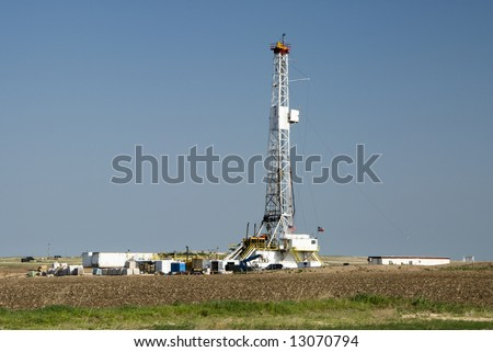 Oil drilling rig in the Texas Panhandle